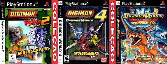 Digimon World Ps2 Coleção (3 Dvds) Patch Infanti