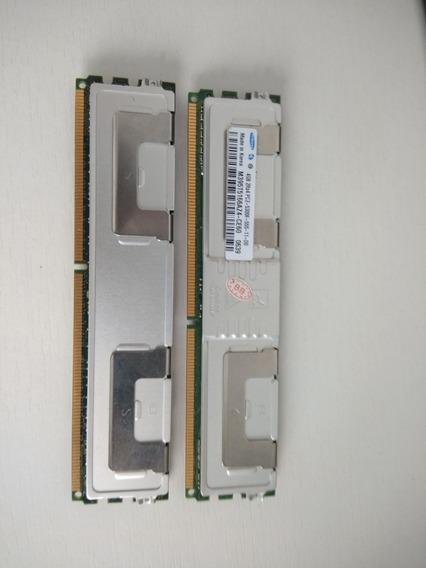 Kit Memória Ram Ddr2 8gb (2x4gb) 667 Pc2 5300f Para Servidor