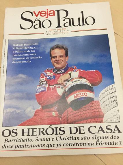 Revista Veja São Paulo 13 Rubens Barrichello Fórmula 1 Z472