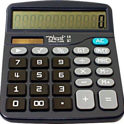 Calculadora De Mesa Bateria E Solar 12 Digitos 1200
