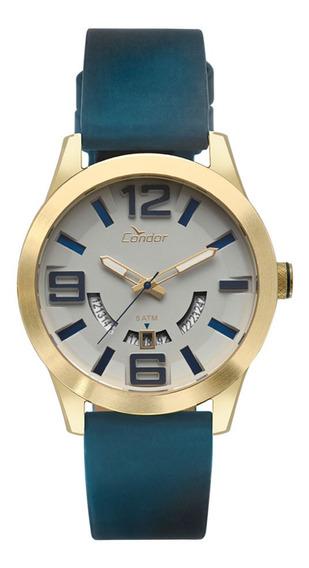 Relógio Condor Masculino Speed Dourado Co2115kty/k2c + Brinde