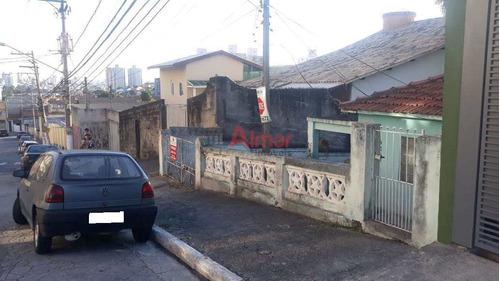 Excelente Terreno  10 X 67  M² Com Casa Antiga No Cangaíba - V8298