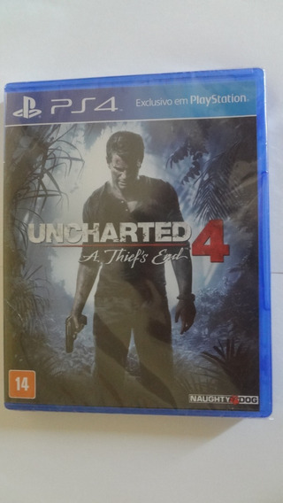 Uncharted 4 Ps4 - Mídia Física - Novo E Lacrado