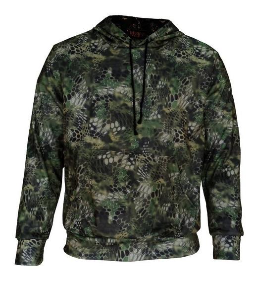 Moletom Canguru Camuflado Masculino Blusa Frio Casaco Blusão