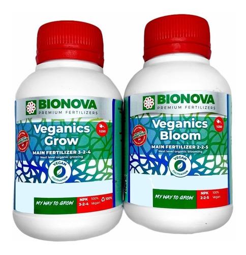 Imagen 1 de 2 de Nutrientes Bionova Veganics Grow + Bloom 250ml 100% Orgánico