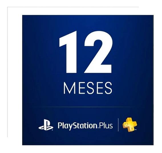 Cartão Playstation Plus 1 Ano - Jogue Online - Única - Ps4