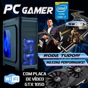 Pc Gamer Intel Core I7 8gb 1tb Gtx 1050 Wifi Roda Tudo!!!