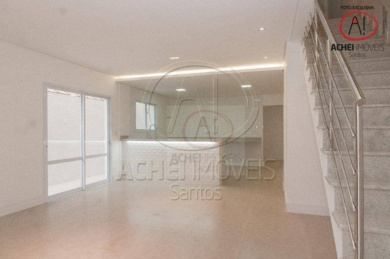 Casa Com 3 Dormitórios À Venda, 180 M² Por R$ 1.400.000,00 - Aparecida - Santos/sp - Ca1613