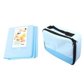 64 Pockets Foto Álbum + Transporte Caso Saco Para Fuji Polar