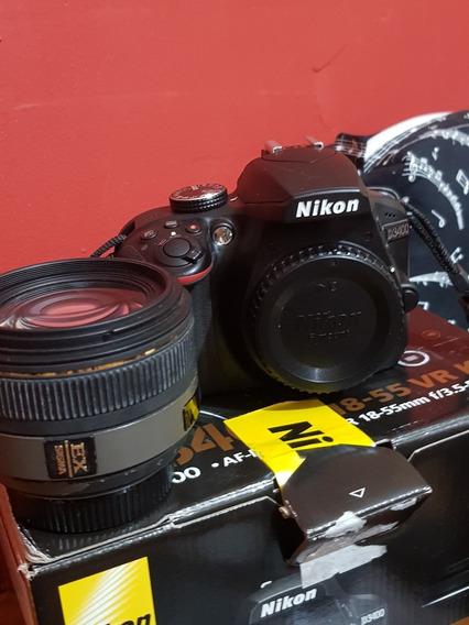 Camera Nikon D3400 Estado De Nova + Lentes 30m1.4sigma+kit