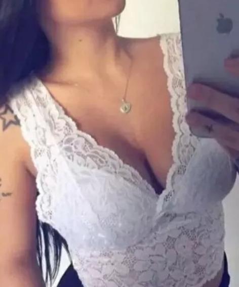 Top Cropped Renda Sutian Alça Larga Bojo Revenda Atacado