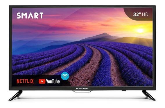 Smart Tv Multilaser Led, Hd, Wifi, Hdmi, Usb 32