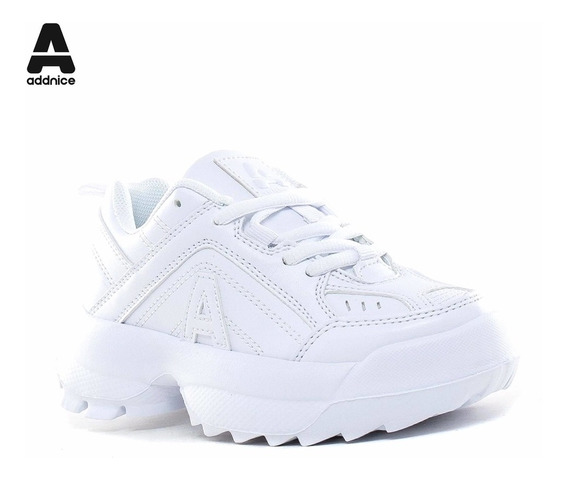 Zapatillas Addnice Niños Niñas Trendy Brooklyn Blancas