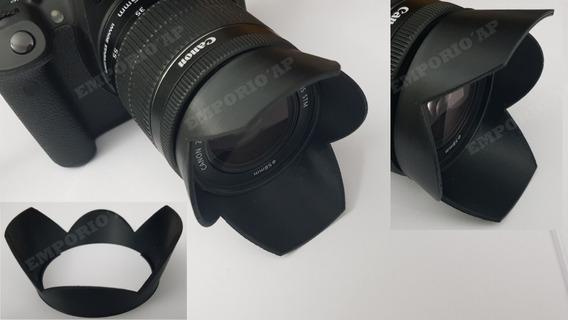 Parasol Protetor Lente Canon 58mm Tulipa Pétalas T5i T6i T4i