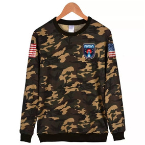 Blusa Moletom Nasa Camuflado Tumblr World Gola Redonda