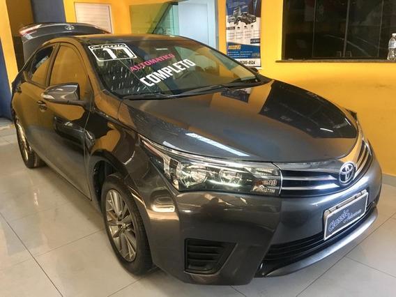 Toyota / Corolla Gl 1.8 Flex Aut + Bacos De Couro 2017