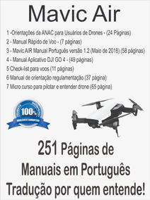 Manual Português Drone Mavic Air +surpresa @via E-mail Super