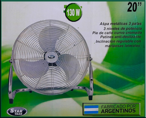 Turbo Ventilador Industrial 20 Pulgadas Star Trak 130 Watts