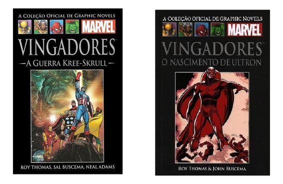 2 Livros Marvel Vingadores (guerra Kree+ Nascimento Ultron)