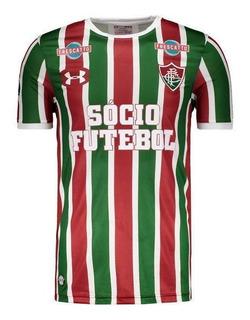 Camisa Under Armour Fluminense I 2017 Sulamericana Pat