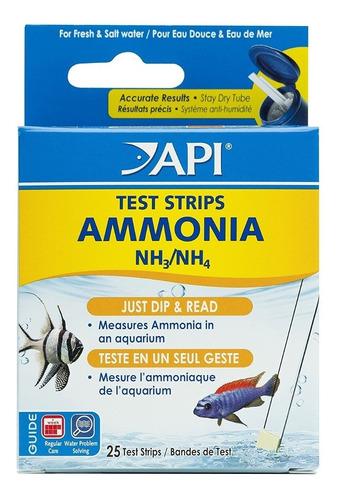 Api Ammonia Nh3/nh4 25 Test  Tirillas Importado