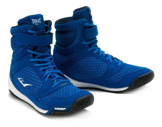Zapatillas Para Boxeo Corte Alto Azul - Everlast