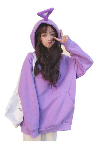 Suéter Para Mujer De Manga Larga Con Capucha Capa De Color
