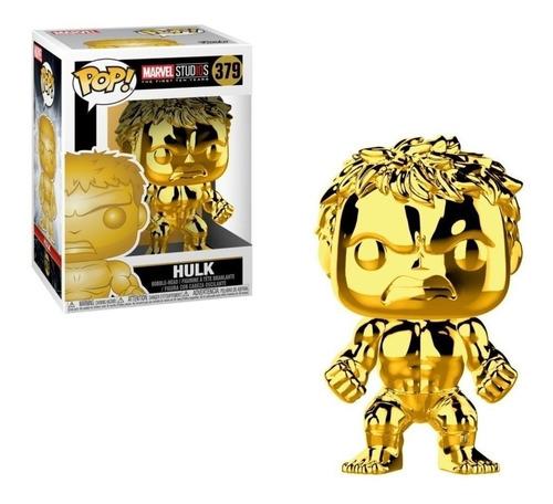 Funko Pop Hulk 379 Gold Marvel Studios Figura Original Edu