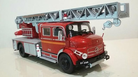 Miniatura Caminhão Mercedes-benz Bombeiros L 1519 1:43 Novo
