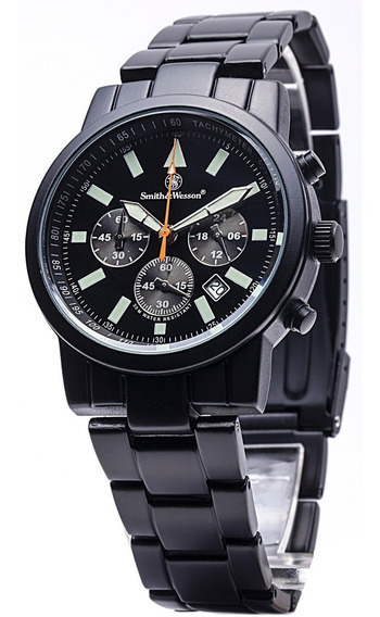 Smith & Wesson Pilot Black Stainless Steel Watch Chronograph