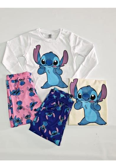 Pijamas Conjunto Moda Juvenil Tikt Ok Stich Netflix 4 Al 16
