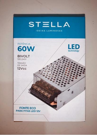 Fonte Eco Para Led 12v 60w - Stella - Sth9893