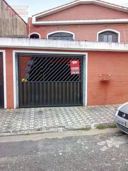 Casa Com 3 Dormitórios À Venda, 250 M² Por R$ 510.000 - Jardim Vila Rica - Santo André/sp - Ca0809