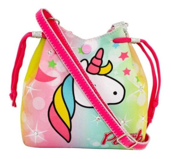 Bolsa Infantil Princesa Pink Unicornio Gradiente