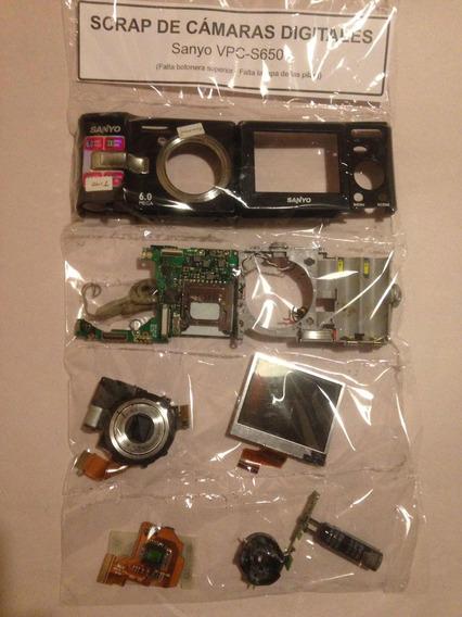 Cámara Digital Sanyo Vpc-s650 Es Scrap Para Repuestos