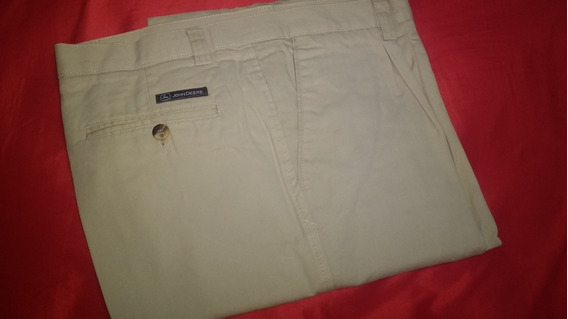 Pantalon Beige De Gabardina T44 John Deere Marca Oliver