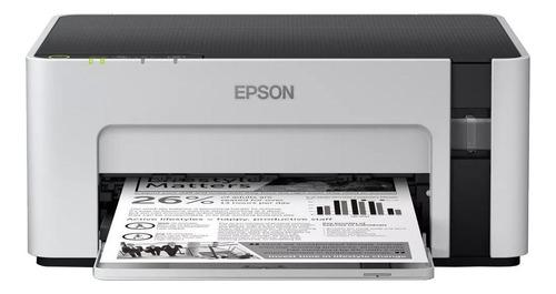 Impressora Epson EcoTank M1120 com wifi 110V branca e preta