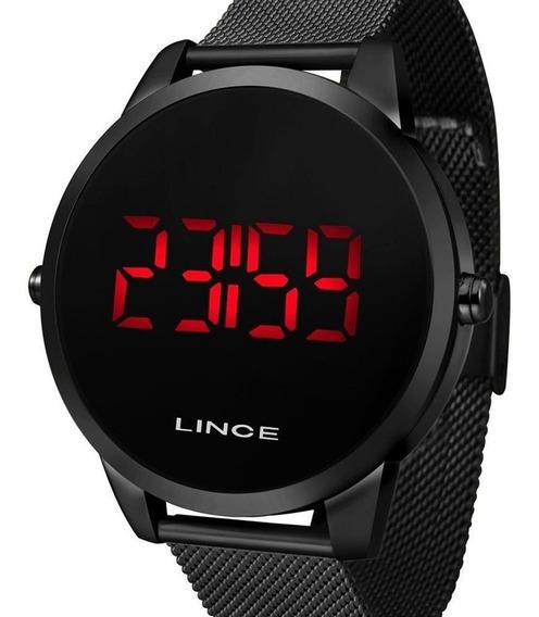 Relógio Lince Masculino Digital Mdn4586l Pxpx Aço Preto