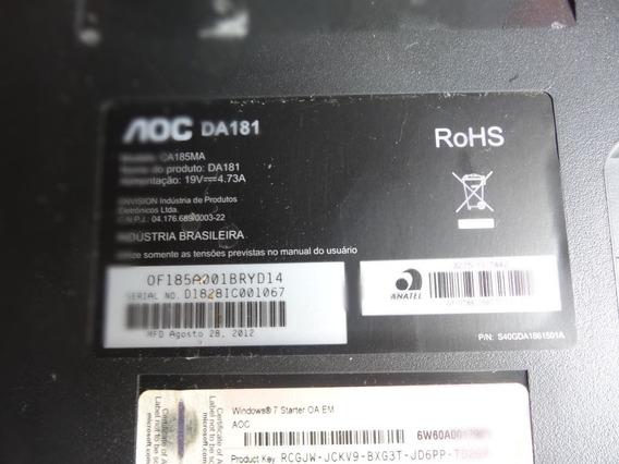 Computador Aoc Da181 Com Defeito Leai Anúncio.