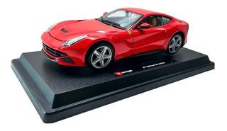 Miniatura Ferrari F12 Berlineta Vermelha 1 24 Bburago + Base