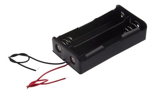Soporte Caja Porta Baterías Tipo 18650 Doble Ranura Cableado