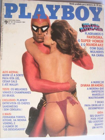 Revista Playboy 98 Set 82 Divina Brandão Fernanda Torres.