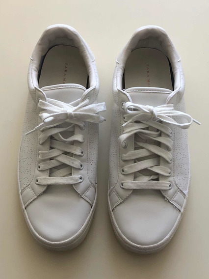 Zapatillas Zara Hombre Blancas Impecables