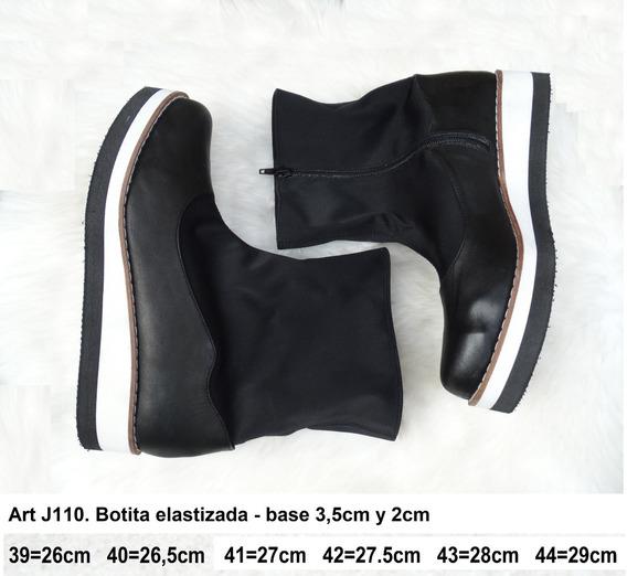 Bota Baja Elastizada - Horma Ancha - Art J110