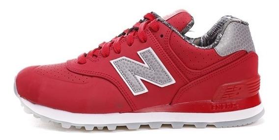 Zapatillas New Balance 574 Dama - Rojo