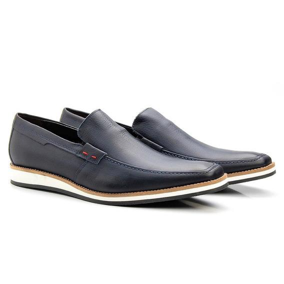 Sapato Casual Masculino Couro Forrado Leve Macio Confortável
