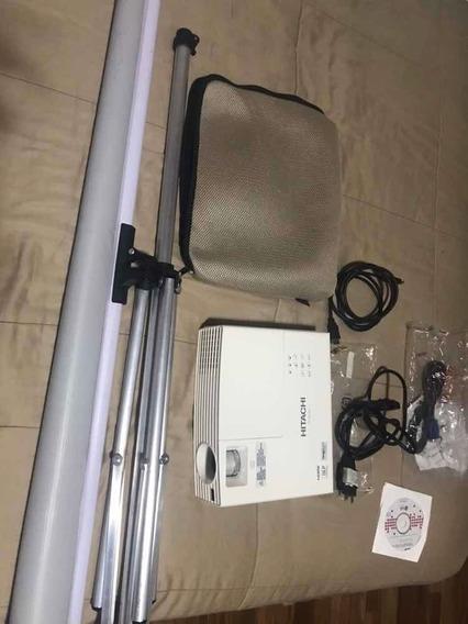 Projetor Hitachi Cp-dx250 Com Tripé E Telão