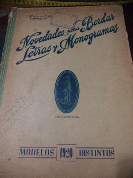 Riscos P/ Bordados Album Argentino Antigo Raro De 1920!