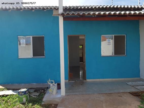 Casa Para Venda Em Várzea Grande, São Matheus, 3 Dormitórios - 385_1-1353694
