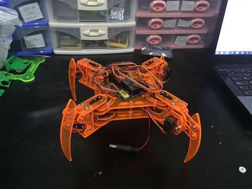 Imagen 1 de 3 de Proyecto Robot Cuadrupedo Con Arduino Bluetooth + Programa